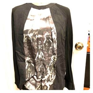 LAMB silk with wool top size L